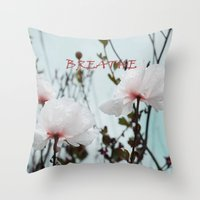 Matilija White Poppies Throw Pillow