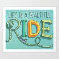 Beautiful Ride Art Print