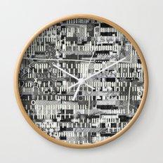 Exploiting Digital Behavior (P/D3 Glitch Collage Studies) Wall Clock