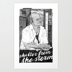 Shelter from the storm Art Print