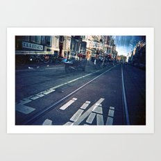 Amsterdam Double Exposure Art Print