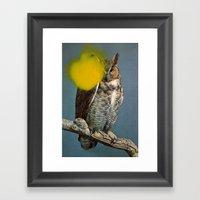 Untitled (Owl) Framed Art Print