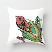 Rising Of The Birdy Gods Throw Pillow