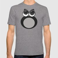 Gothic owl Mens Fitted Tee Tri-Grey SMALL