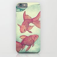 iPhone & iPod Case featuring Goldfishes by Mike Koubou