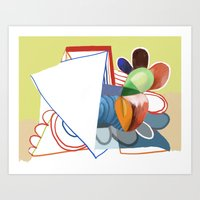 Abstract Painting 7742 Art Print