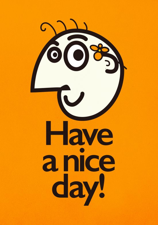 Have A Nice Day Happy Character Canvas Print