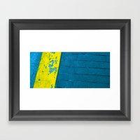 Turquoise Sidewalk Framed Art Print