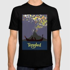 Tangled SMALL Mens Fitted Tee Black