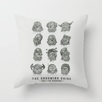 The Grooming Guide Throw Pillow