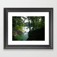 New York Central Park Lake Framed Art Print