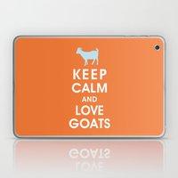 Keep Calm and Love Goats Laptop & iPad Skin