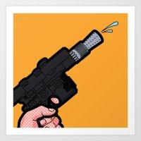 Pop Icon - Water Blaster Art Print