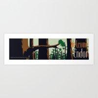 Visit Endor! Art Print
