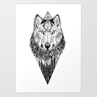 Art Print featuring The Wolf  by TerryEmi