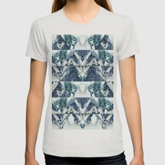 Forest Reflections Womens Fitted Tee Silver SMALL