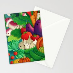 Nice People Eat Vegetables - background (Made with Danny Ivan) Stationery Cards