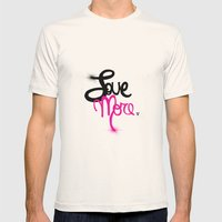 Love More Mens Fitted Tee Natural SMALL
