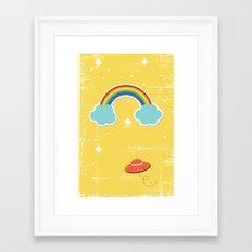 Space Rainbow Framed Art Print