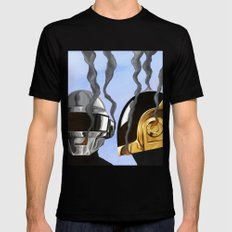 Daft Punk Deux Mens Fitted Tee Black SMALL