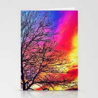 Colourful Sky Stationery Cards