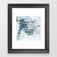 Swell Zone Whiteout  Framed Art Print