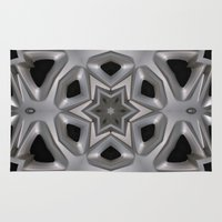 Abstract kaleidoscope of a wheel cover Rug