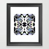 Graphic Zebra  Framed Art Print