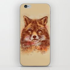 The Red fox iPhone & iPod Skin