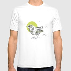 Bush Wren Xenicus Longipes White SMALL Mens Fitted Tee