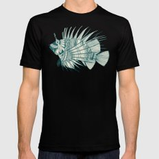 fish mirage teal Mens Fitted Tee Black SMALL