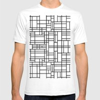Map Outline Black on White  Mens Fitted Tee White SMALL