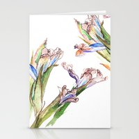 Dying Iris Stationery Cards