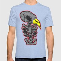 BIRD SKULL Mens Fitted Tee Tri-Blue SMALL