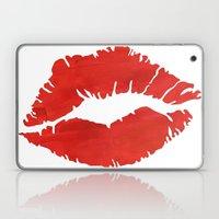 fire engine red lips Laptop & iPad Skin