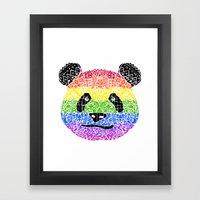 Panda Pride Framed Art Print