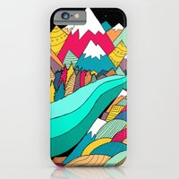 iPhone Cases featuring River in the mountains by Steve Wade