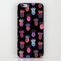 Tutti Frutti Black iPhone & iPod Skin