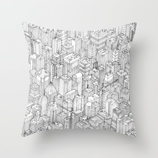 Isometric Urbanism pt.1 Throw Pillow