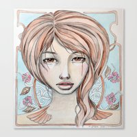 art nouveau Canvas Print