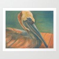 Seaside Contemplation Art Print