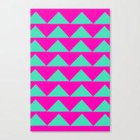 Neon Pink & Aqua Canvas Print