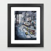 Time Square - New York C… Framed Art Print