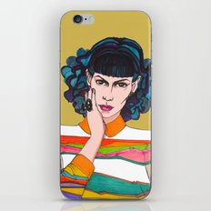 What is she thinking? iPhone & iPod Skin