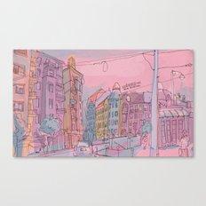 Budapest through pencil II. Canvas Print