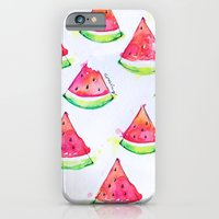 iPhone & iPod Case featuring Watermelon Watercolor Print  by Goldfish Kiss