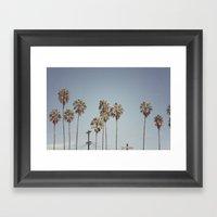 Lines + Lines + Lines | Highland Park, Los Angeles Framed Art Print