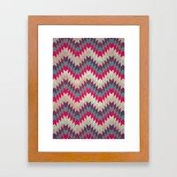 Chevron pattern_purple, blue and pink Framed Art Print