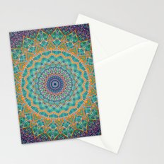 Travel Into Dimensions Mandala. Stationery Cards