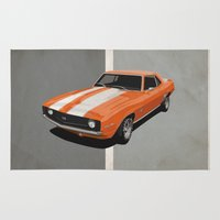 Camaro- Orange Rug